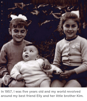 In 1957, I was five years old and my world revolved around my best friend Elly and her little brother Kim. (1)