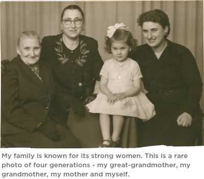 My family known for its strong women. (4)